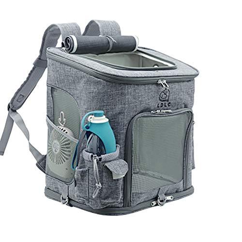 OMEM Rucksack für Haustier Outdoor Hunde rucksäcke für Haustier verstellbare Rucksack für Kleine Hunde und Katzen (Grau)