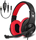 Headset for PS5 Games,PS4,Xbox,PC, Kids Headphones with Mic for School Supplies,Gaming Headphones Wired,Headphones with Microphones,Gaming Headphones for Girls Headset with Mic