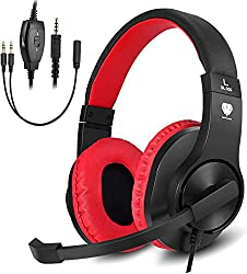 small BUTFULAKE Stereo Gaming Headset for PS4, Xbox One, Nintendo Switch, Adjustable Headphones, and …
