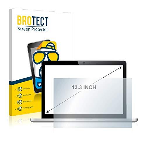 BROTECT Entspiegelungs-Schutzfolie für Notebooks mit (13.3 Zoll) [294 mm x 165.5 mm, 16:9] Displayschutz-Folie Matt, Anti-Reflex, Anti-Fingerprint