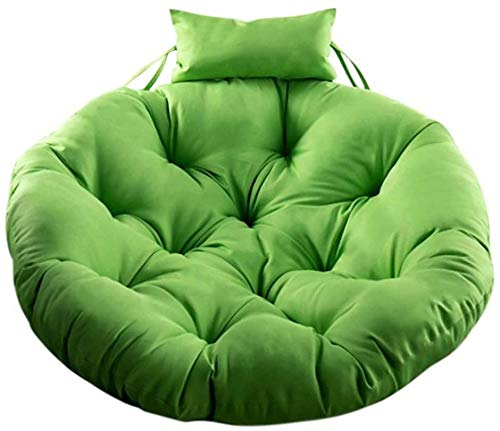 TYHZ Chair Cushion Swing Chair Cushion,Large Hanging Basket Seat Cushion,Round Thick Papasan Chair Pads Hanging Egg Chair Cushion Outdoor Chair Pad (Color : Green, Size : 120 * 120cm(47 * 47inch))