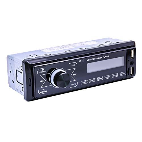 KKmoon Autoradio mit BT Freisprecheinrichtung Smartphone Ladefunktion über USB Anschluss 7 LED Farben einstellbar USB, SD, MP3, AUX,U-Disk