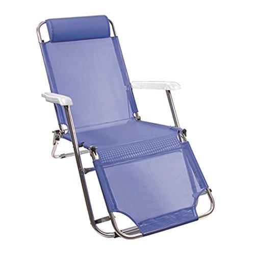 Vette cdf00036 Chaise Longue Extensible en Aluminium, Bleu