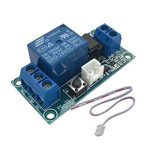 ZZQQ Módulo de relevo Un Canal DC 12V Módulo Relé de Enclavamiento con el Tacto biestable Interruptor de Control de MCU para el Voltaje de Control