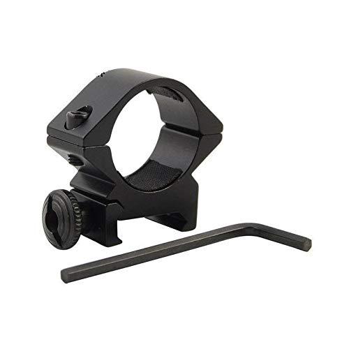 LSHBAO-Hunting, Taktische Lauf 25,4mm Low Scope Taschenlampe Laser Sight Taschenlampe Ring Mount Schiene Airsoft Jagdgewehr Umfang Zubehör (Color : Black)