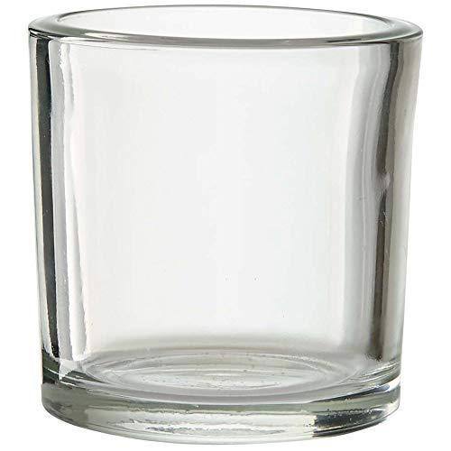 Annastore 6 x Gläser H 8 cm in Zylinderform als Windlichter Teelichtgläser Dessertgläser Vorspeisengläser Wassergläser Trinkgläser