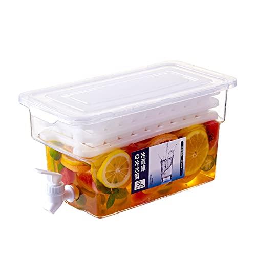 shandianniao Donante de Bebidas con Tap 5L, dispensador de Agua para refrigerador, Grifo del dispensador de Agua para refrigerador Delgado, hervidor eléctrico frío Bebidas frías. (Color : A)
