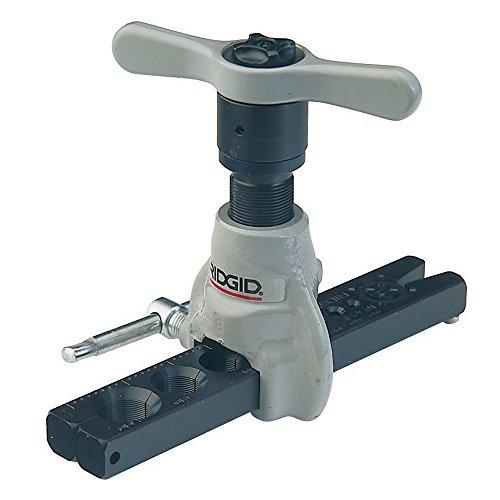 RIDGID 83037 Flangiatore a cricco a 45° SAE esteso 458R per tubature da 3 mm a 19 mm, flangiatore a cricco di precisione