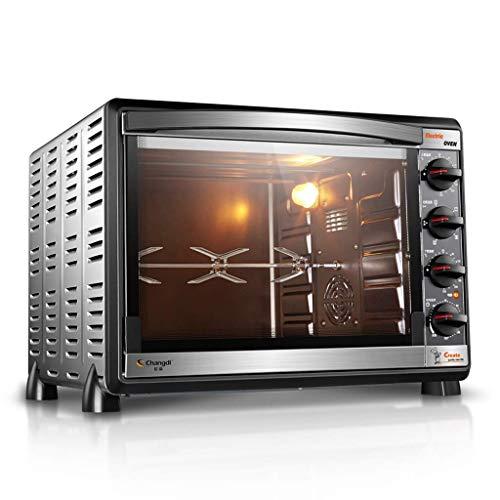 Fours grille-pain électriques 52L, four de comptoir sur plage avec revêtement antiadhésif en acier inoxydable, plaque chauffante et couvercle, four à convection pour rôtissoire à pizza, noir, ruban