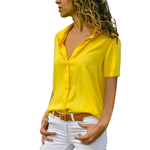 Blusa Mujer Verano Elegante Color sólido