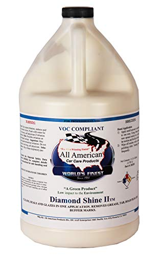All American Car Care Products Diamond Shine II - Premium All in One Clean, Seal, Glaze and Protecting Automotive Wax (1Gallon)