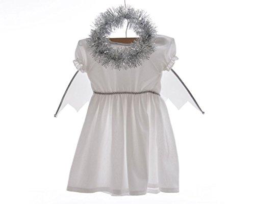 Izaneo - Costume fille ange blanc/ argent