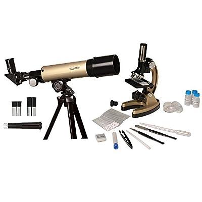 Educational Insights GeoSafari Telescope & Microscope Set, 2-in-1 Set, STEM Learning, Ages 8+