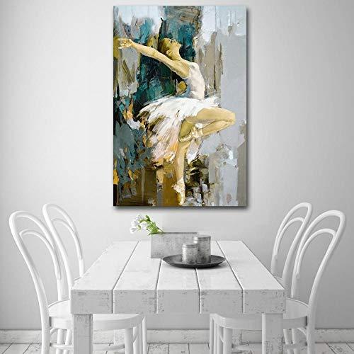 Dansende Ballerina Canvas Schilderij Beroemde Kunstenaar Schilderij Op Canvas Posters Wall Art Pictures voor Woonkamer Decor 60x90cm frameloos