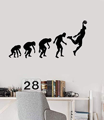 YHZSML Wandtattoo Basketballspieler Küche Büro Home Decor Vinyl 153x74cm