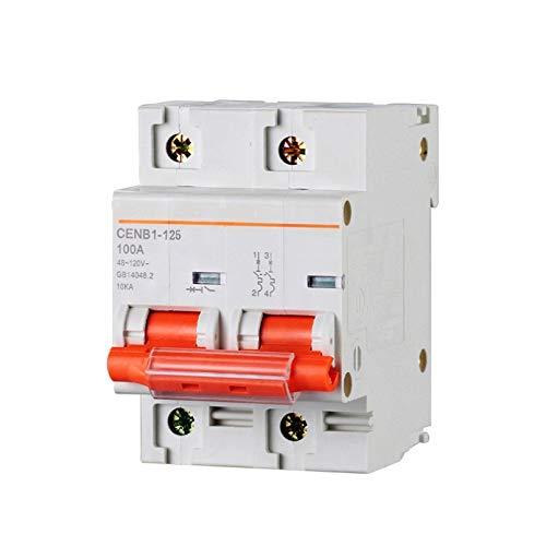 LUOXUEFEI Sicherungsautomat 2P Dc 120V 63A 80A 100A 125A Dc Leistungsschalter