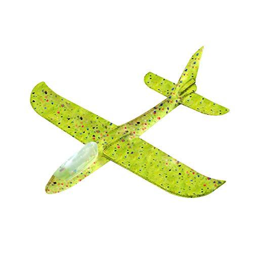 Ajcoflt Aviones Planeador,Avión de Lanzamiento Volador con luz LED de Destello,18.9' Lanzar Manual Planeador,Mano Lanzamiento Glider Aviones,Juguete Planeador Espuma,Modelo de Avion Deportes al Aire