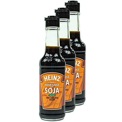 Heinz - 3er Pack Süße asiatische Sojasauce in 150 ml Glasflasche - Soja Sauce Würzsauce aus Sojabohnen hergestellt und mit feinen Kräutern und Gewürzen