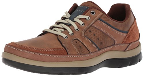 Rockport Men's Get Your Kicks Mudguard Blucher Shoe, tan embossed, 10.5 M US