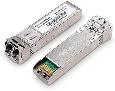 Cable Matters 2 Pack 10GBASE SR SFP to LC Multi Mode 10G Fiber Transceiver Modular for Cisco product image
