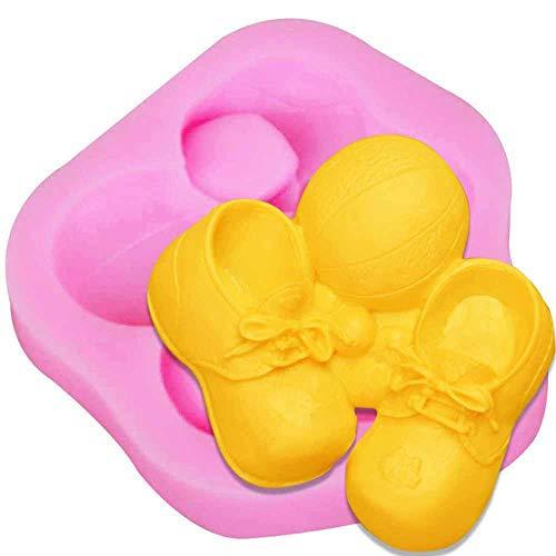 Schuhe mit Fußballsilikonform Fondant-Kuchenform Werkzeuge Schokolade Süßigkeiten verzieren Gelee kühl