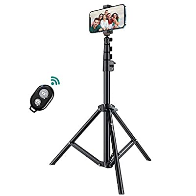 """VISCEED Phone Tripod, 59"""" Extendable Tripod for iPhone & Android Phones Bluetooth Remote Selfie Stick Tripod Camera Tripod Stable Base Lightweight Selfie Stick Detachable Design from VICSEED"""