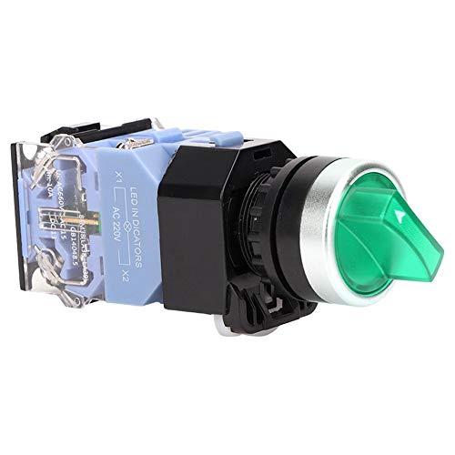 Interruptor de botón de reinicio automático, interruptor de botón momentáneo estable para fábrica para reemplazar para uso general para uso profesional(Green light)