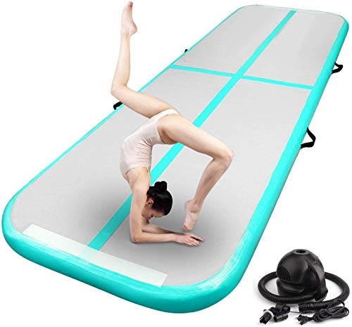 FBSPORT 9.84ft Inflatable Gymnastics Air Track Tumbling Mat Airtrack Mats for Home...