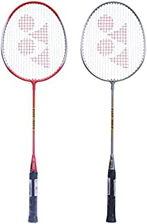 Yonex GR 303 Aluminum Blend Badminton Racquet with Half Cover, Set of 2