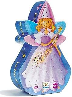 Djeco Silhoutte Puzzle - Fairy & Unicorn Puzzles for Babies