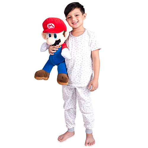 Franco Kids Bedding Soft Plush Cuddle Pillow Buddy, One Size, Super Mario