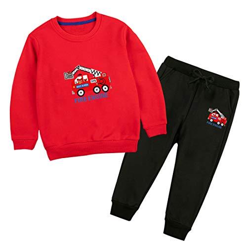 Zedde Kinder Jogginganzug Junge Trainingsanzug Sweatshirt Sporthose Bekleidungsset Frühling Herbst 2-8 Jahre