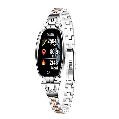Einfache und schöne Uhr-Accessoires kreative Mode-Damen Armband elektronische Uhr Blutdruck Herzfrequenz Test Uhr Informationen Push Wathr wasserdicht Uhr