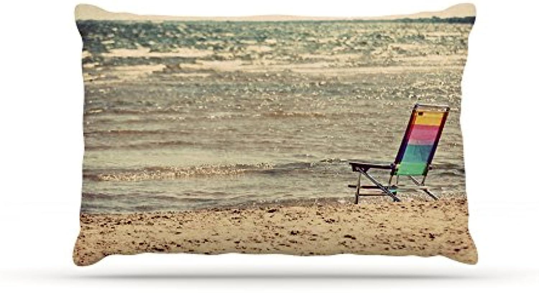 Kess InHouse Angie Turner Beach Chair  Sandy Beach Dog Bed, 30 by 40Inch
