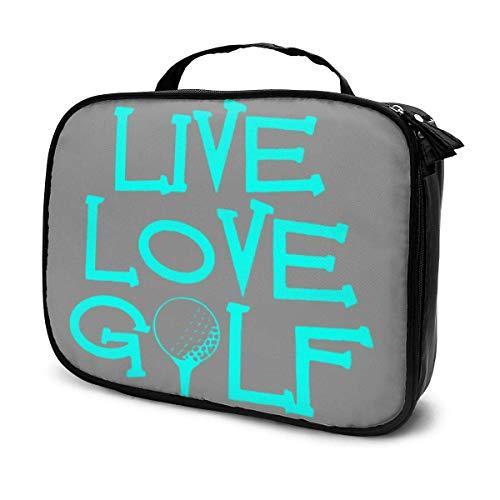 Live Love Golf, tragbare Outdoor-Kosmetiktasche, Go-Kart Racing ist gut Reißverschluss, Make-up-Tasche, Gepäck, wasserdichte Künstleraufbewahrungstasche
