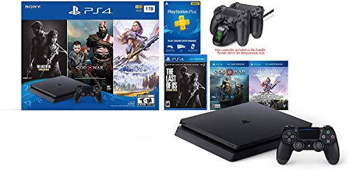 2019 Newest Playstation 4 Holiday Bundle- Only on Playstation PS4 Console Bundle - Included 3 Games, 3 Month Playstation Plus Membership HESVAP Fast Charging Station Dock