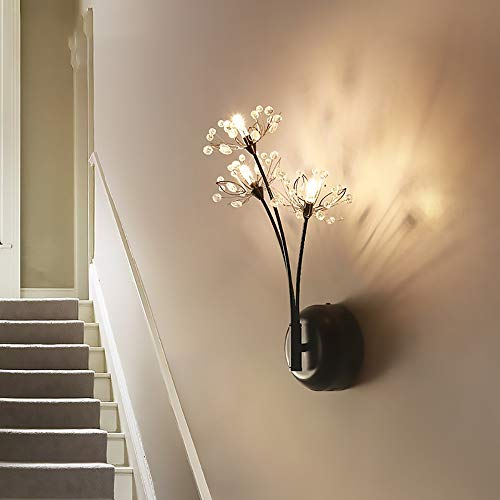 DKee Diente de león Creativo Lámpara de Pared Dormitorio Sala de Estar Decoración Lámpara Pasillo Lámpara de Pared Lámpara de Noche Cubierta Lámpara de Cristal de la Escalera LED