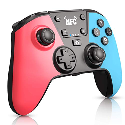 Wireless Controller für Switch mit Amiibo (NFC) / Makrotaste, RegeMoudal Switch Controller Gamepad Joypad Joystick für Switch Console, Unterstützung der Turbofunktion, Doppelvibration und Gyro-Achse