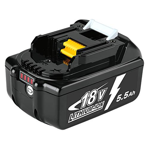 Dosctt BL1860B 5.5Ah Reemplazo para Makita 18V Batería BL1860 BL1850 BL1850B BL1830 BL1830B BL1840 BL1815 BL1825 BL1835 BL1845 LXT400 con indicador