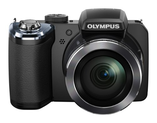 Olympus SP-820 Digitalkamera (14 Megapixel, 40-Fach Opt. Zoom, 7,6 cm (3 Zoll) LCD-Display) inkl. Batterien schwarz