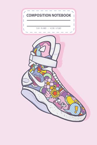 Composition Notebook: Doodle Air Mag Shoes Notebook College Lined Pages | Journal | Diary | For Students, Teens, and Kids | For School, College, University, and Home