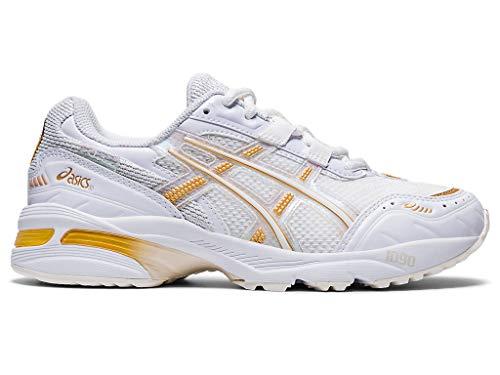 ASICS Zapatillas de correr GEL-1090 para mujer, blanco (Blanco/Blanco), 37.5 EU