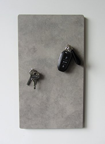 Magnet-Schlüsselbrett, Schlüsselboard mit Vinyloberfläche in Optik Beton und Einer Größe von 40cm x 22,5cm