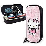 Hello Kitty, astuccio rosa per penne, per scuola, scuola, grande astuccio portapenne, colore: rosa
