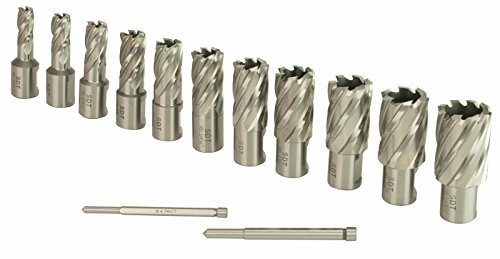 Steel Dragon Tools 13pc. High Speed Steel HSS Annular Cutter Kit 1' Depth and 7/16 in. to 1-1/16 in.