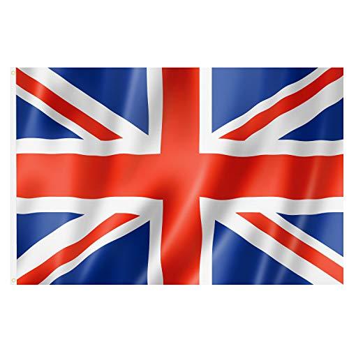 TRIXES Grand Drapeau de la Grande-Bretagne Union Jack 5 Pieds x 3 Pieds Jeux Sport