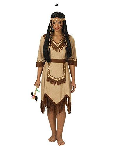KULTFAKTOR GmbH Apachen Indianerin Damenkostüm braun S