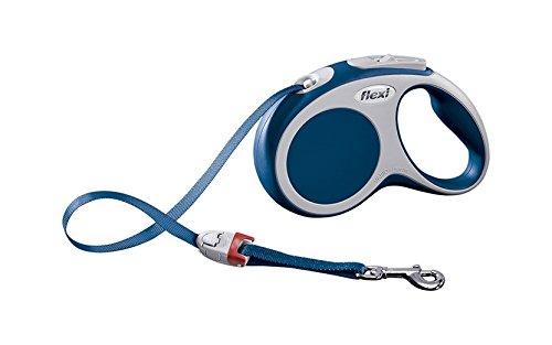 flexi Roll-Leine Vario S Gurt 5 m blau für Hunde bis max. 15 kg