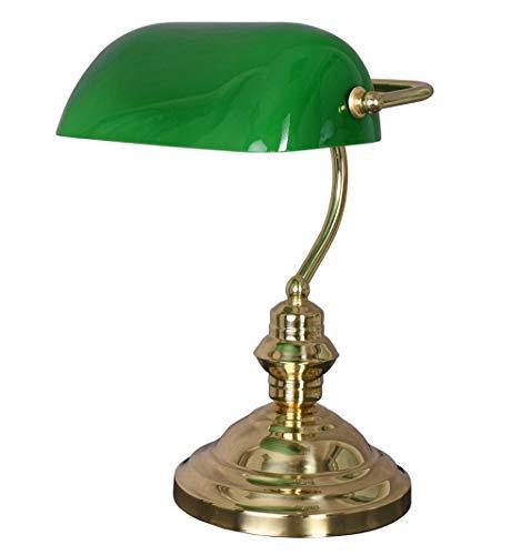 Lampe Banker Lampe englische Tischlampe Bürolampe Tischleuchte Leseleuchte grün xcl111 Palazzo Exklusiv