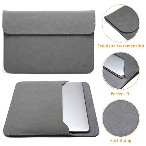 HYZUO 13 Zoll Laptop Hülle Tasche Laptophülle Compatibel mit 2018-2020 MacBook Air 13 A2179 A1932/MacBook Pro 13 2016-2020/iPad Pro 12,9 2020 2018/Dell XPS 13/Surface Pro X 7 6 5 4 mit kleine Tasche